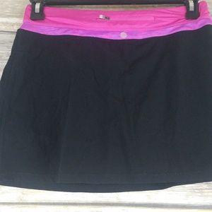##Tangerine small skirt skort black pink##